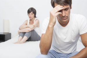 Casal afetado pela ejaculação precoce